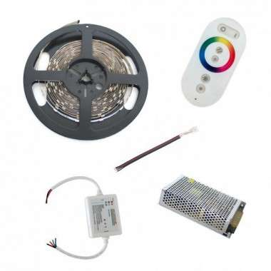 Pack ruban LED RGB - Tactile - Fils - 7,5m