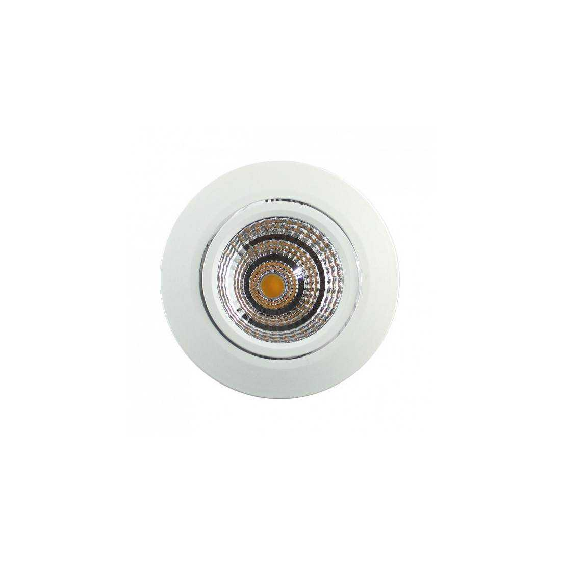 Spot LED Blanc Encastrable 7W - Sans alimentation